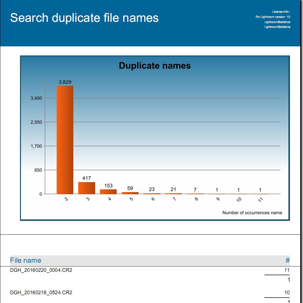 Duplicate file names